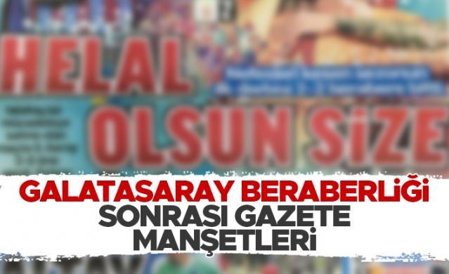 Haberlobi - Spor Servisi // Spor Toto Süper Lig'in 4. haftasında Trabzonspor ile Galatasaray 2-2 berabere kaldı.  Karşılaşmanın ardından bugün gazeteler hangi manşetleri attı:
