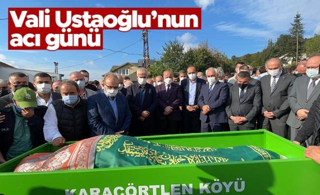 Düzceli Trabzon Valisi İsmail Ustaoğlu'nun vefat eden babası Temel Ustaoğlu, düzenlenen cenaze törenin ardından toprağa verildi.