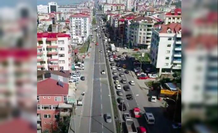 Akçaabat'ın trafiği dehşete düşürüyor