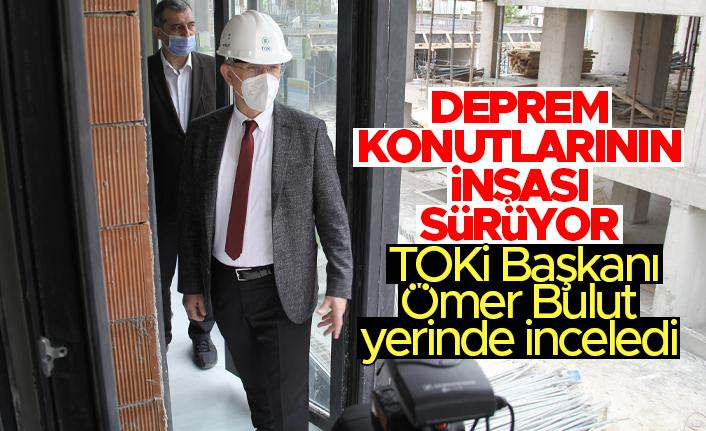 İzmir'deki deprem konutlarının inşası sürüyor