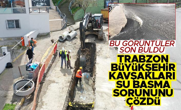 Trabzon'da artık her yağmurda kavşakları su basmayacak