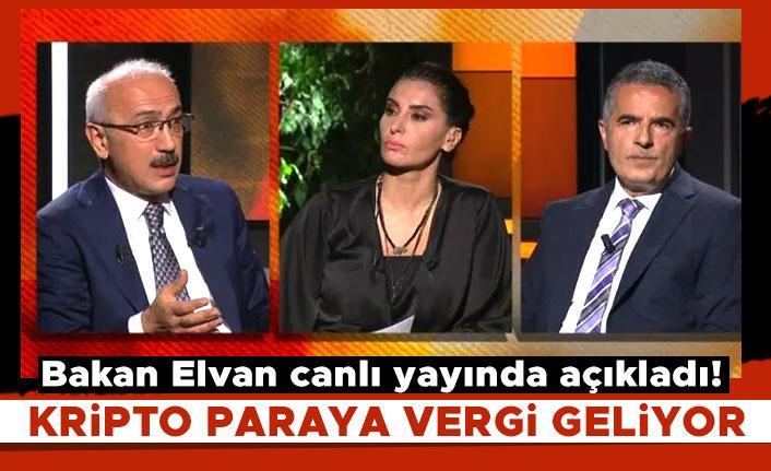 Bakan Elvan canlı yayında açıkladı! Kripto paraya vergi geliyor