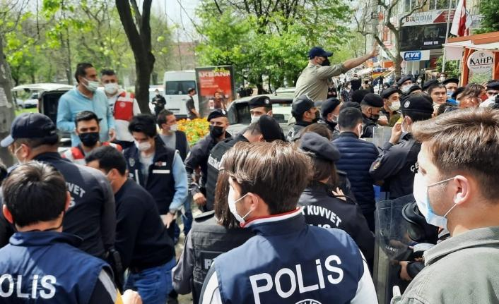 Beşiktaş'ta eylemcilere polis müdahalesi