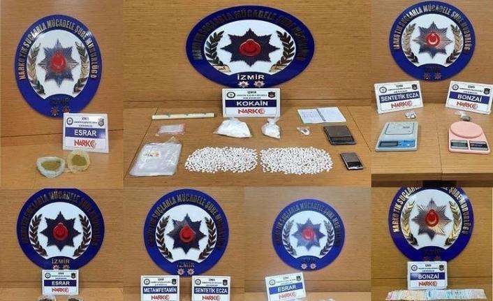 İzmir'deki uyuşturucu operasyonlarına 15 tutuklama