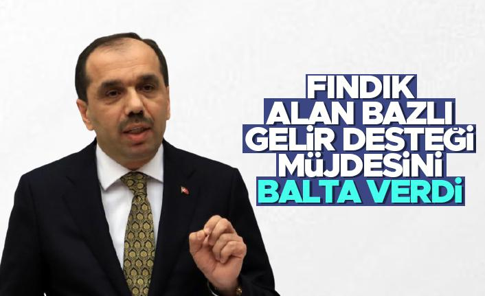 Milletvekili Muhammet Balta fındık alan bazlı gelir desteği müjdesini verdi