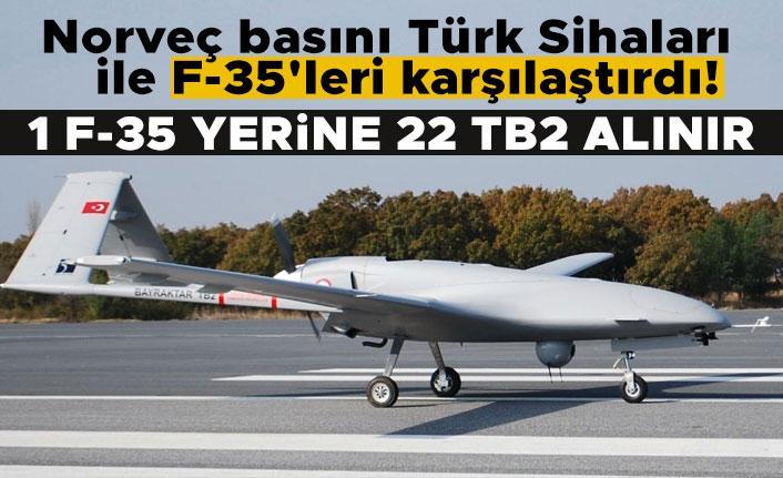 Norveç basını Türk Sihaları ile F-35'leri karşılaştırdı! 1 F-35 yerine 22 TB2 alınır
