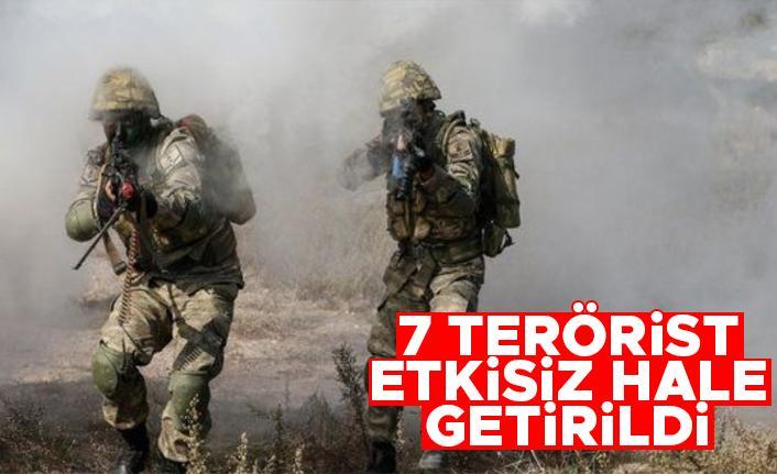 Pençe-Şimşek ve Pençe-Yıldırım operasyonlarında 7 terörist etkisiz hale getirildi