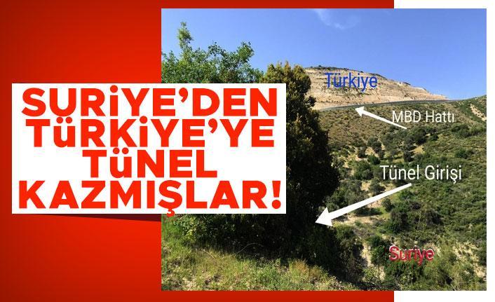 Suriye'den Türkiye'ye tünel kazmışlar!