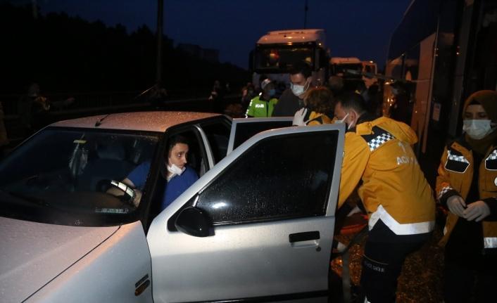 TEM Otoyolu trafiğe kapatıldı, kilometrelerce kuyruk oluştu