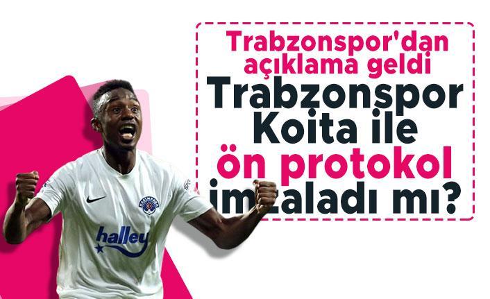Trabzonspor Koita ile ön protokol imzaladı mı? Trabzonspor'dan açıklama geldi