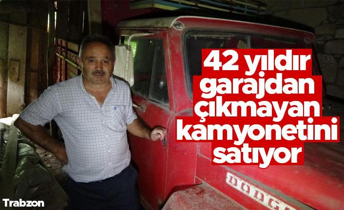 Trabzon'da 42 yıl önce garaja konulan kamyonet bir kere bile dışarı çıkartılmadı