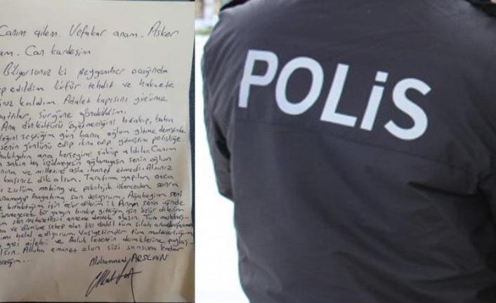Arkasında intihar notu bırakan polisle ilgili flaş gelişme! Emniyet Genel Müdürlüğü açıkladı...