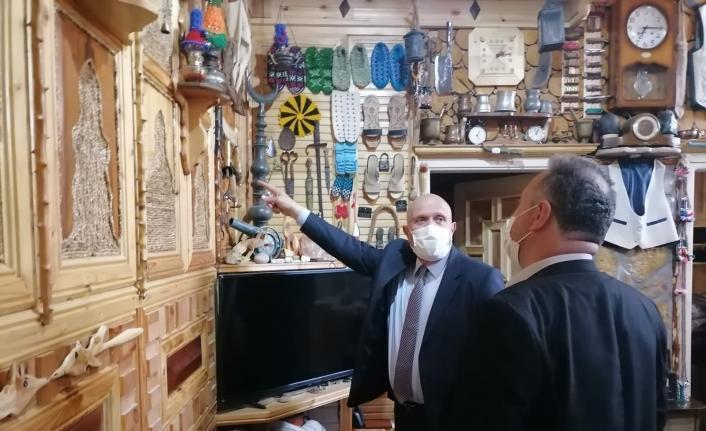 Başkan Pekmezci'den evini müzeye dönüştüren Keleş'e ziyaret