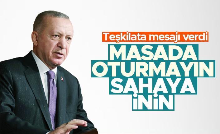 Cumhurbaşkanı Erdoğan'dan, AK Parti teşkilatlarına '2023' talimatı