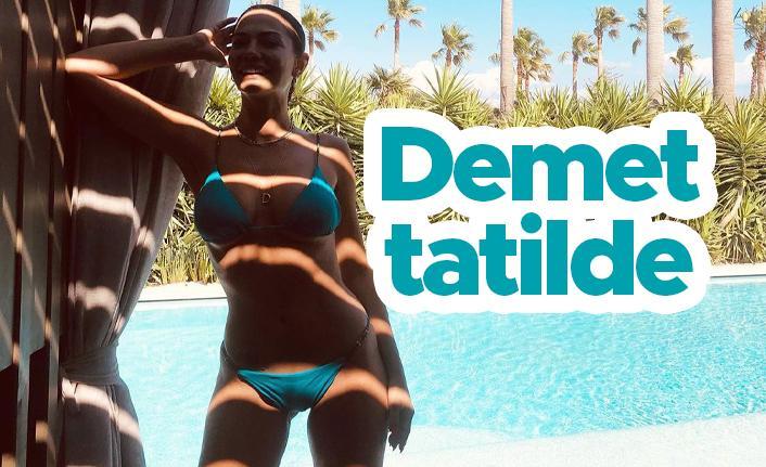 Demet Özdemir'den tatil paylaşımı...