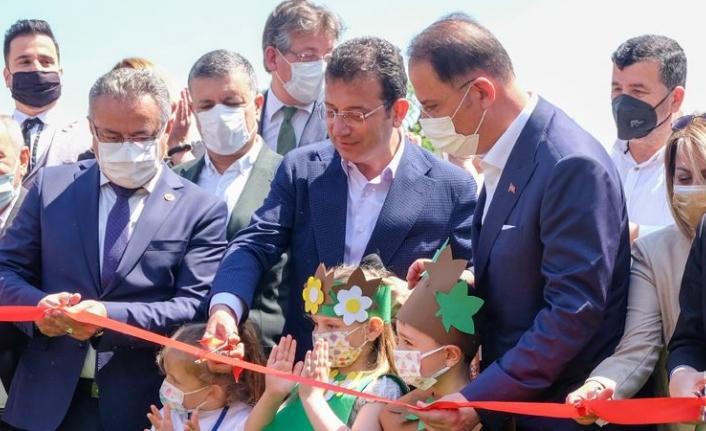 İBB Başkanı Ekrem İmamoğlu, Yakuplu Kent Ormanı'nı açtı