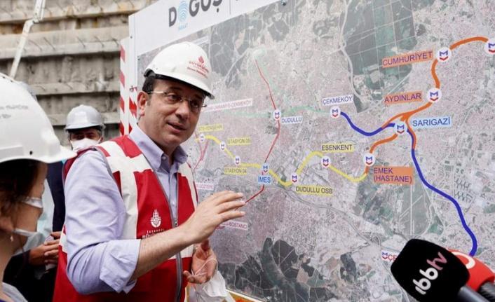 İmamoğlu'ndan İBB metro hattını durdurdu iddialarına yanıt verdi