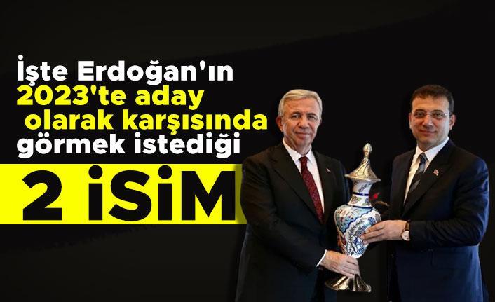 İşte Erdoğan'ın 2023'te aday olarak karşısında görmek istediği 2 isim