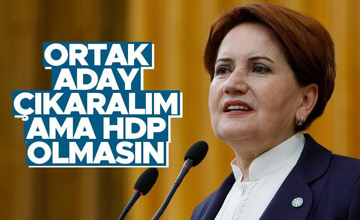 Meral Akşener: Ortak aday çıkaralım ama HDP olmasın