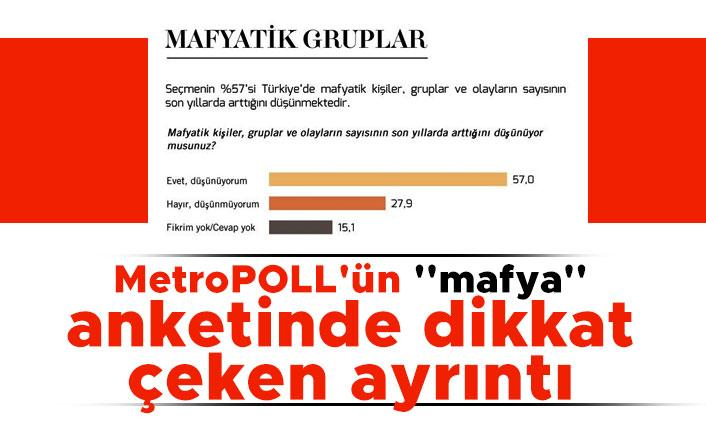 MetroPOLL'ün ''mafya'' anketinde dikkat çeken ayrıntı