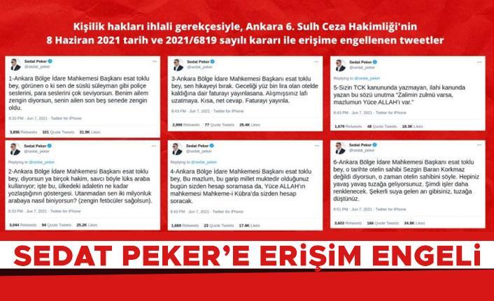Sedat Peker'in sosyal medya paylaşımları engellendi