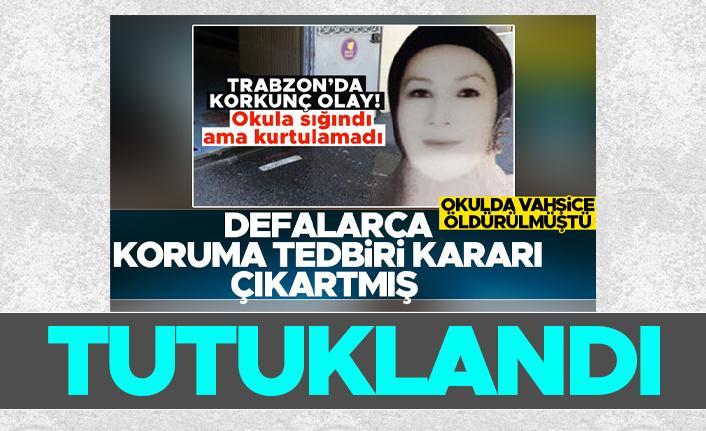 Trabzon'da sevdiği kadını bıçaklayarak öldüren şahıs tutuklandı