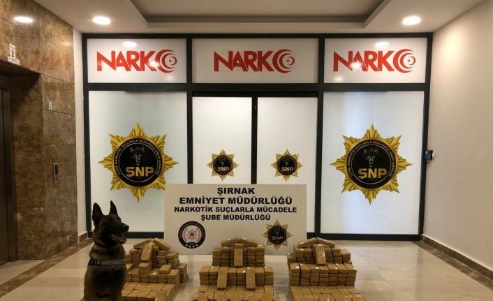 Şırnak'ta 209 kilogram eroin ele geçirildi