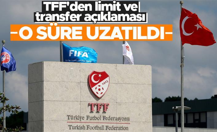 TFF'den limit ve transfer açıklaması