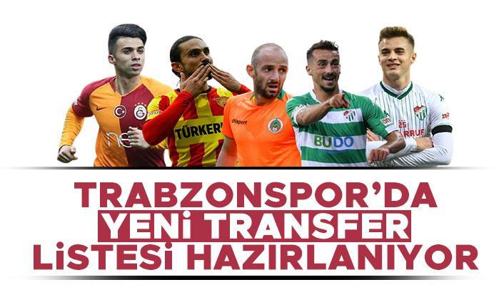 Trabzonspor'da yeni transfer listesi hazırlanıyor