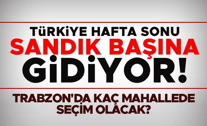 Türkiye hafta sonu sandık başına gidiyor!
