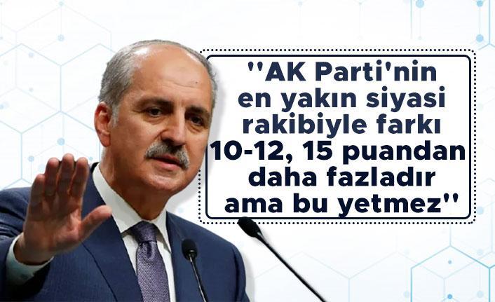 AK Parti'nin oy oranıyla ilgili dikkat çeken açıklama