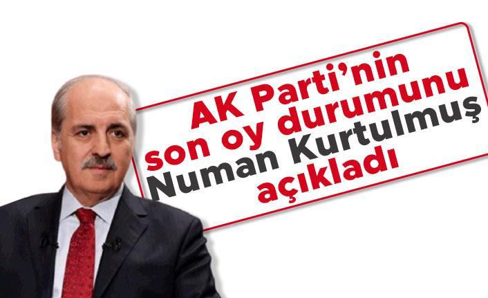 AK Parti'nin son oy durumunu Numan Kurtulmuş açıkladı