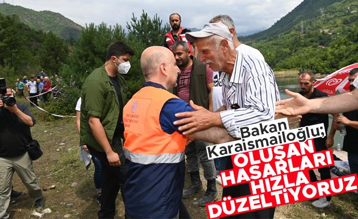 Bakan Karaismailoğlu: 'Oluşan hasarları kısa zamanda ortadan kaldıracağız'