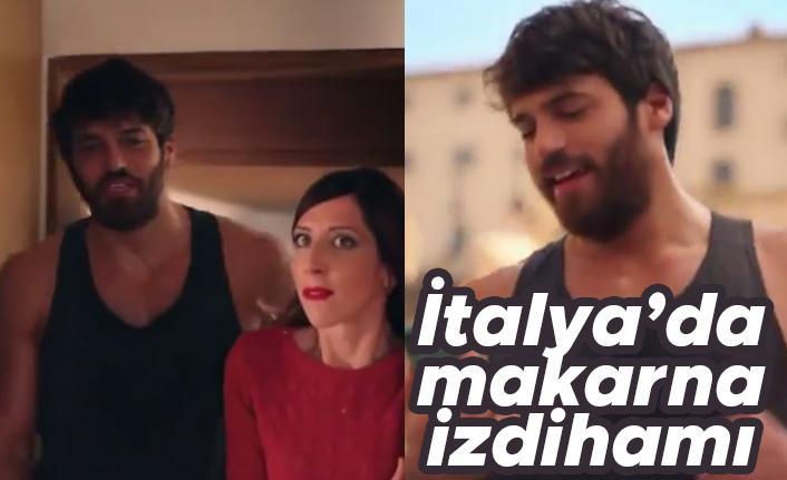 Can Yaman'dan İtalya'da makarna reklamı