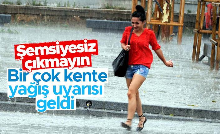 Çok sayıda kente kritik yağış uyarısı
