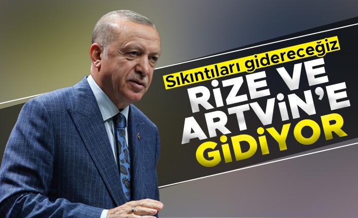 Cumhurbaşkanı Erdoğan, Rize ve Artvin'e gidiyor