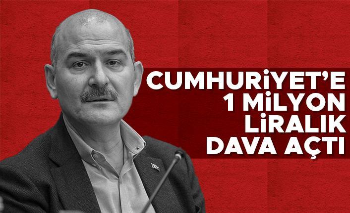 İçişleri Bakanı Soylu, Cumhuriyet gazetesine 1 milyon liralık tazminat davası açtı