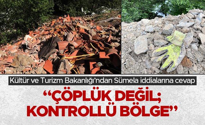 Kültür ve Turizm Bakanlığı'ndan Sümela iddialarına cevap