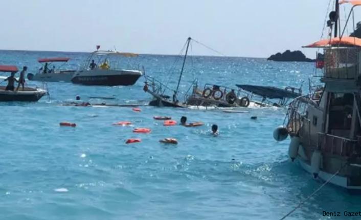 Ölüdeniz açıklarında batan teknedeki tüm yolcular kurtarıldı