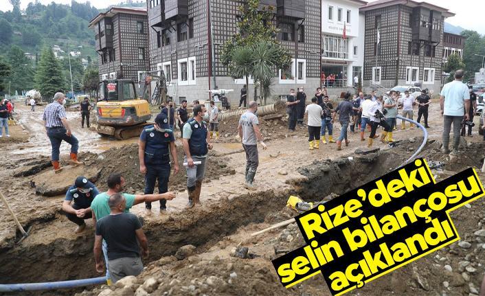 Rize'deki selin bilançosu açıklandı; rakamlar korkunç