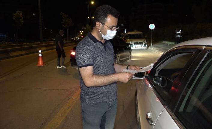 Sokağa çıkma kısıtlamasının son saatlerinde 13 kişiye 52 bin lira ceza