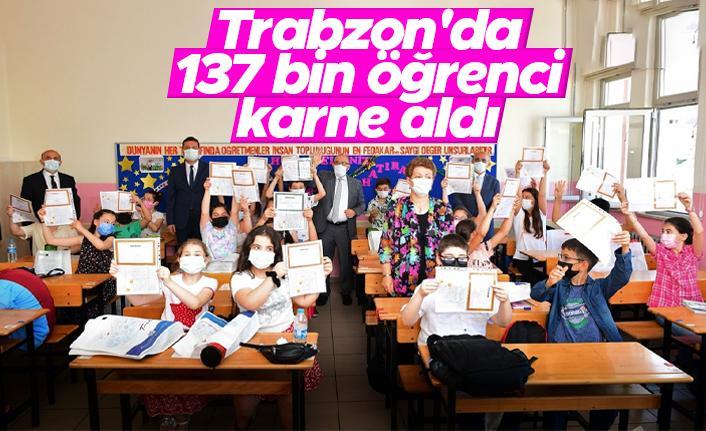 Trabzon'da 137 bin 520 öğrenci karne aldı