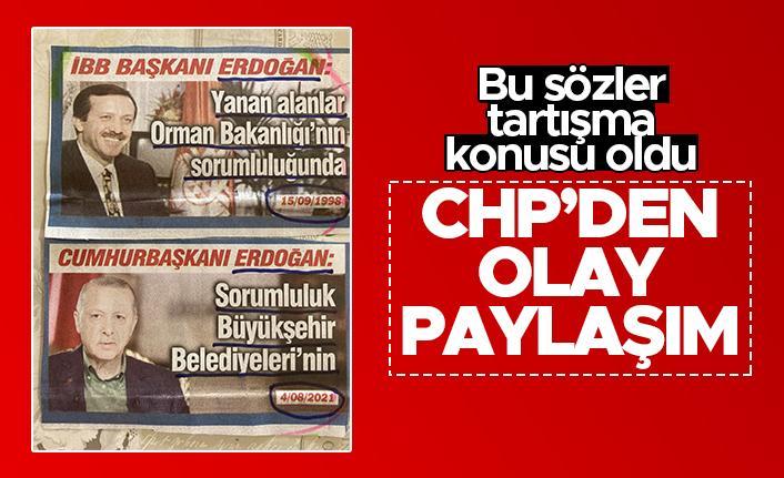 CHP Milletvekili'nden olay paylaşım