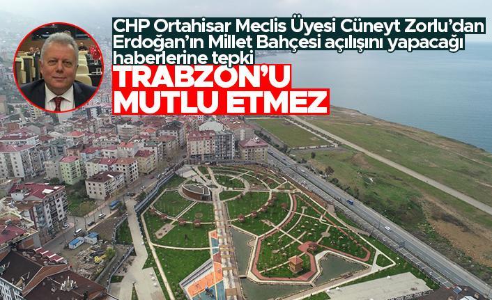 """Cüneyt Zorlu: """"Ülke yanarken, Millet Parkı açılışı doğru değil"""""""