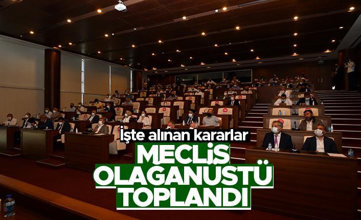 Trabzon Büyükşehir Belediyesi Meclisi olağanüstü toplandı
