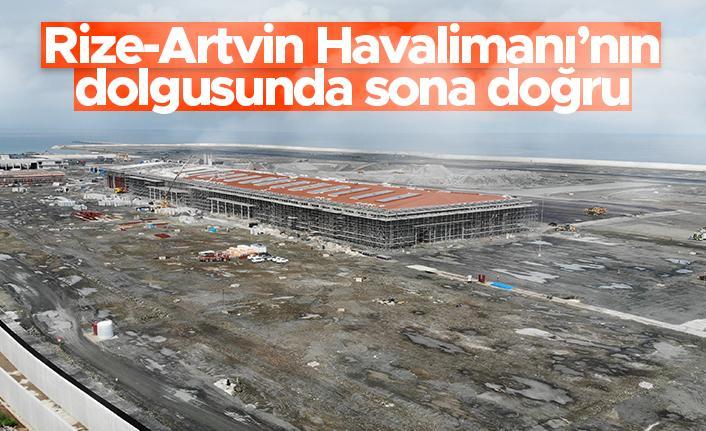 Rize - Artvin Havalimanı'nın dolgusunda sona doğru