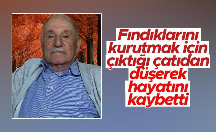 Trabzon'da acı olay - Fındıklarını kurutmak için çıktığı çatıdan düşerek öldü