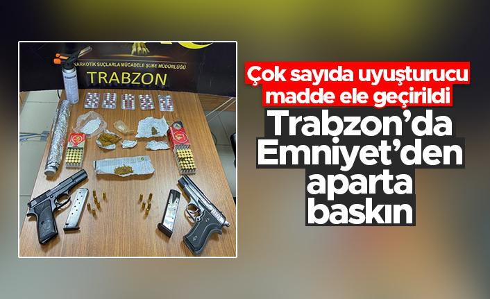 Trabzon Emniyeti'nden aparta baskın - Çok sayıda uyuşturucu madde ele geçirildi...