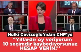 Hulki Cevizoğlu'ndan CHP'ye: Ben oy veriyorum hesap ver