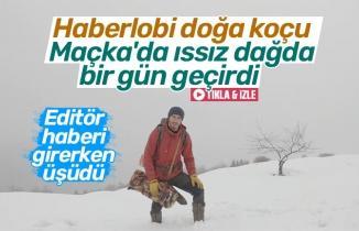 Haberlobi doğa koçu Maçka'da ıssız dağda bir gün geçirdi